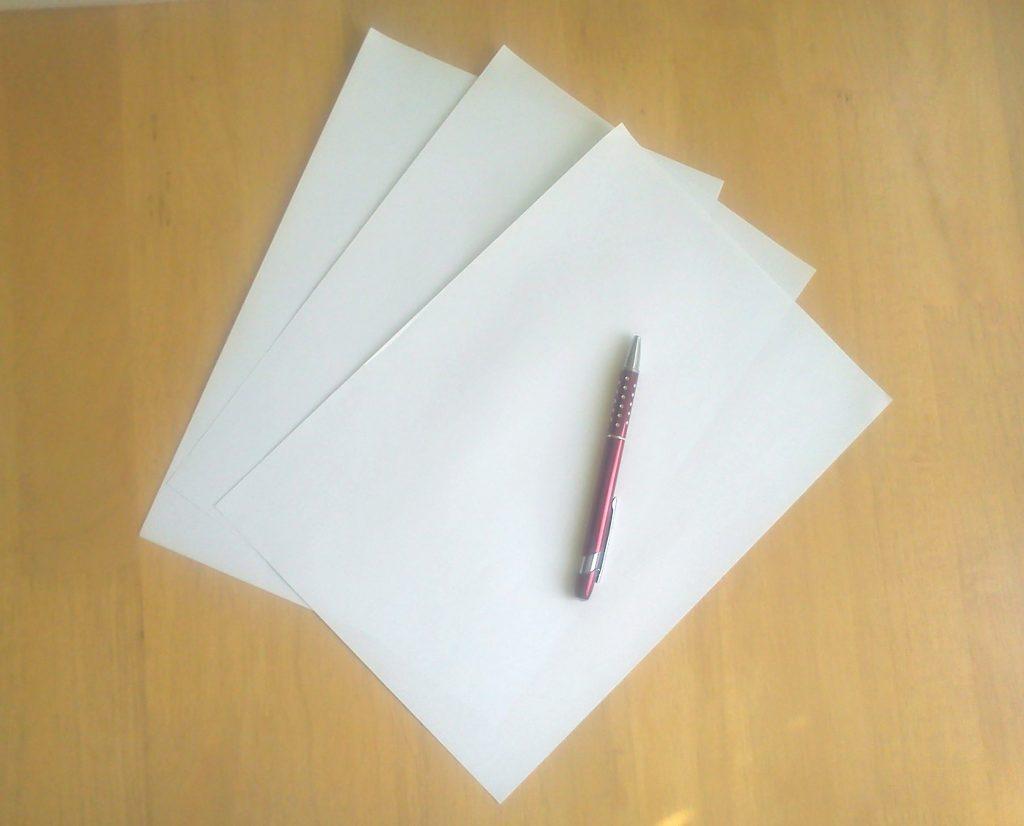 Napíšte list.